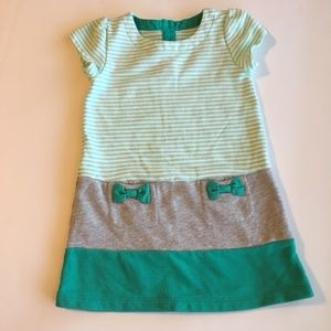 Gymboree green/white/gray French Terry Dress 3T